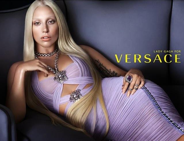 Первый взгляд на Lady GaGa в рекламной кампании Versace. Весна 2014