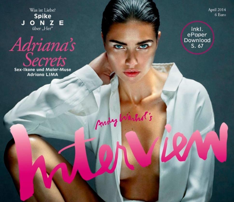 Адриана Лима в журнале Interview. Германия. Апрель 2014