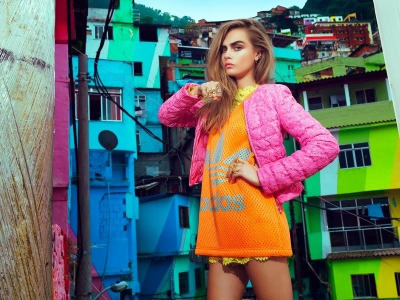 Кара Делевинь в журнале Vogue Бразилия. Февраль 2014