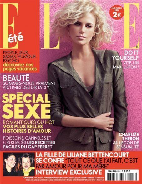 Шарлиз Терон в журнале Elle Франция. Июль 2010