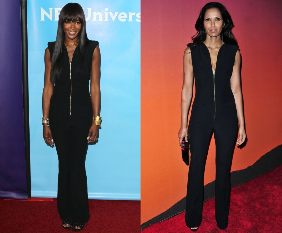 Fashion battle: Наоми Кэмпбелл и Падма Лакшми