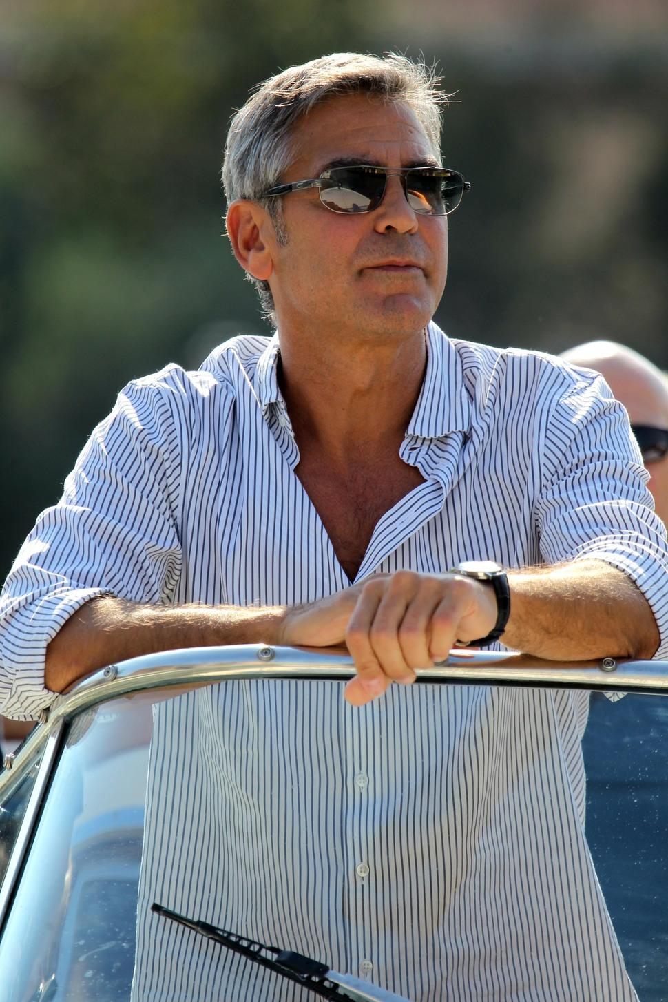 Джордж Клуни и Синди Кроуфорд в Венеции