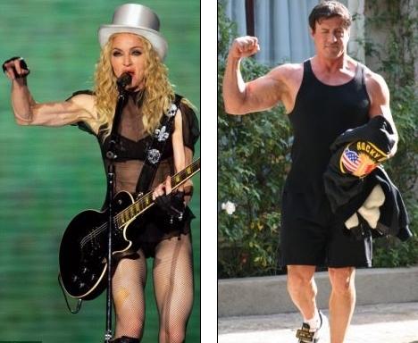 Мадонна могла бы конкурировать с Рэмбо