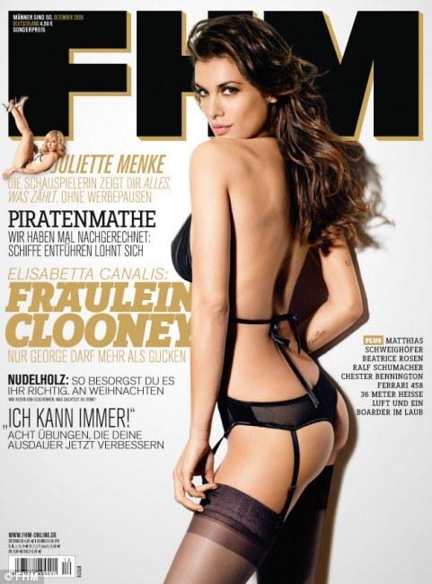 Завидуйте Джорджу Клуни! Элизабетта Каналис в журнале FHM