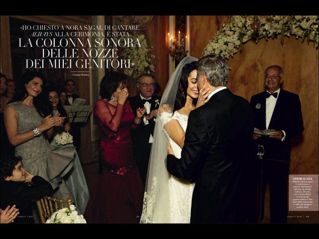 Свадебные фотографии Джорджа Клуни и Амаль Аламуддин из журнала Vanity Fair. Италия. Октябрь 2014