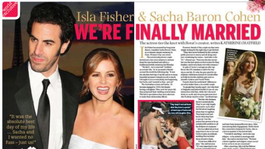 Айла Фишер и Саша Барон Коэн поженились в Париже!