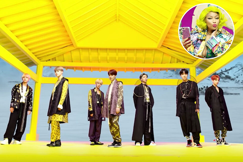 BTS представили новую версию клипа на песню IDOL с Ники Минаж