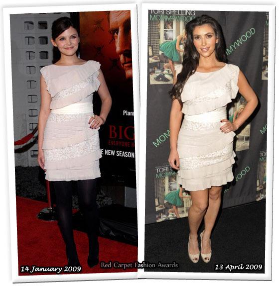 Fashion battle: Джиннифер Гудвин и Ким Кардашян