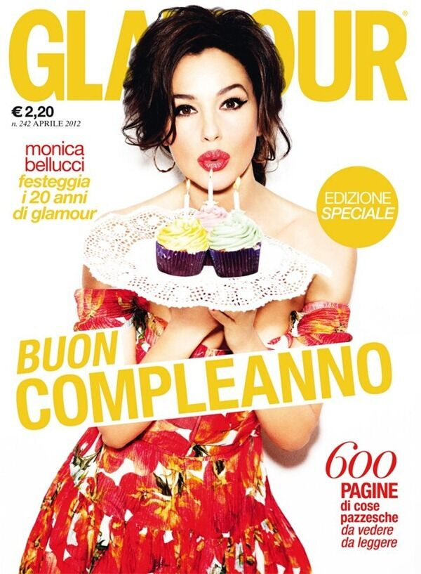 Моника Беллуччи в журнале Glamour Италия. Апрель 2012