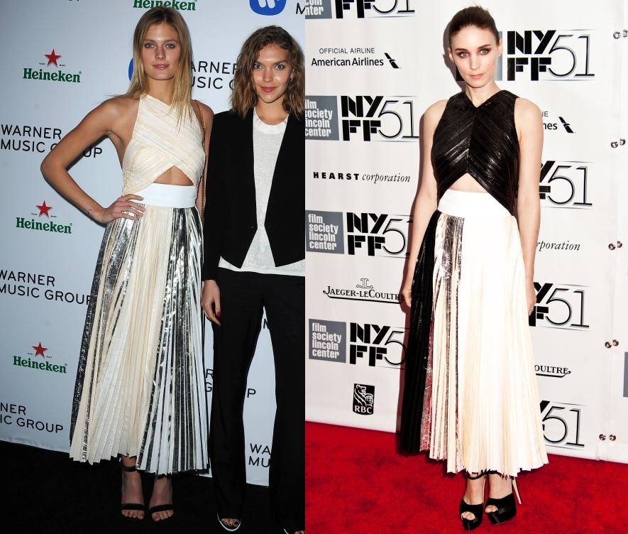 Fashion battle: Констанс Яблонски и Руни Мара
