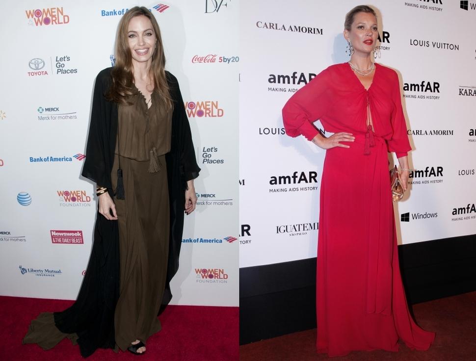 Fashion battle: Анджелина Джоли и Кейт Мосс