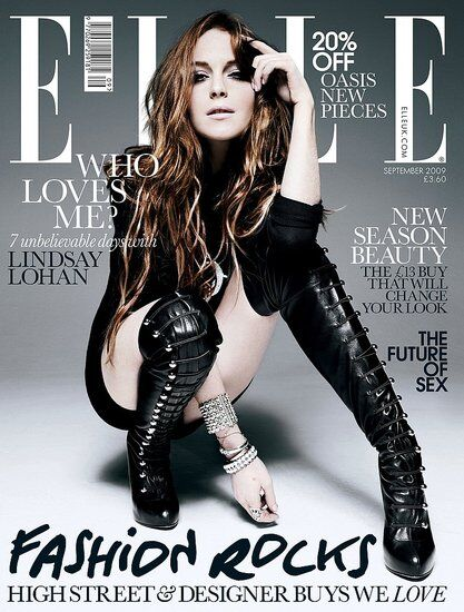 Линдсей Лохан в журнале Elle UK. Сентябрь 2009. Полная версия