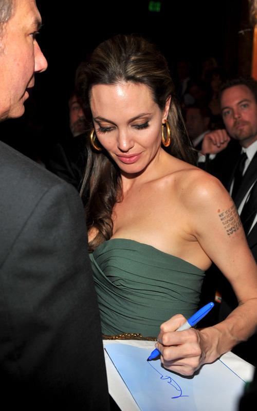 Брэд Питт и Анджелина Джоли на церемонии наград Гильдии Кинорежиссеров