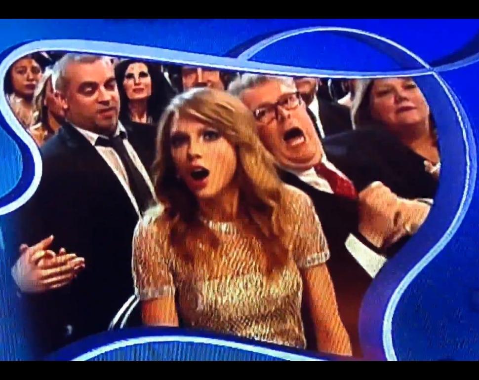 Видео: Тейлор Свифт в шоке из-за проигрыша на «Грэмми»