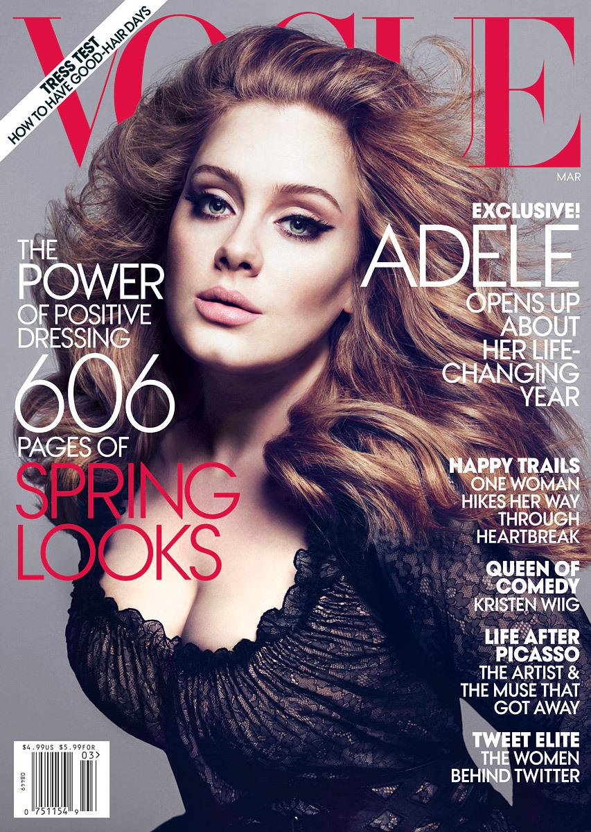 Адель в журнале Vogue. Март 2012