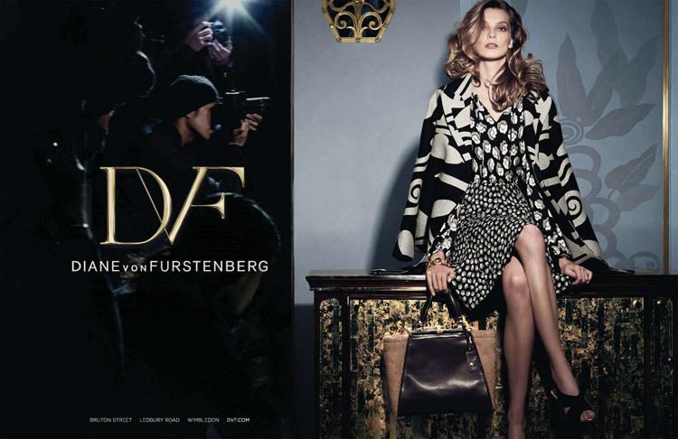 Рекламная кампания новой коллекции Diane Von Furstenberg. Осень / зима 2014-2015