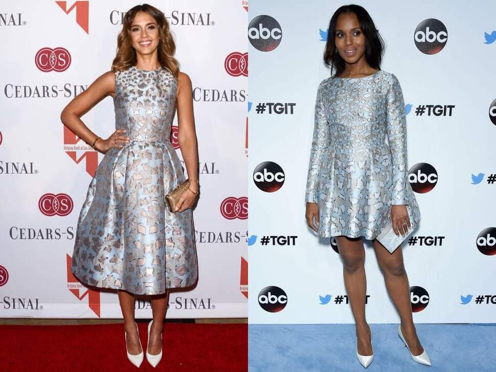 Fashion battle: Джессика Альба и Керри Вашингтон