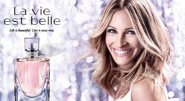 Джулия Робертс в рекламной кампании туалетной воды La Vie Est Belle от Lancome