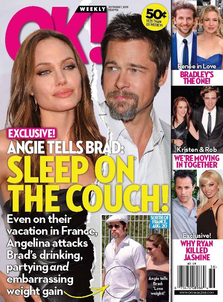 Анджелина Джоли отправила Брэда Питта спать на диван