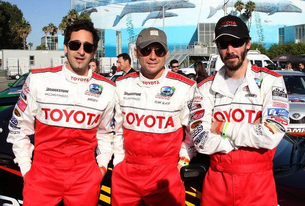 Toyota Practice Press Day со знаменитостями