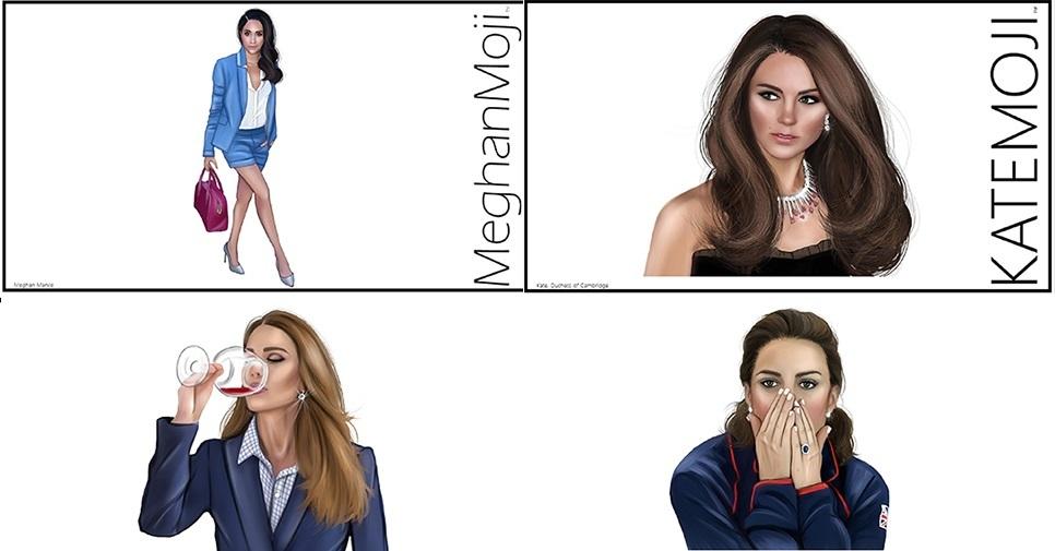 У Меган Маркл и Кейт Миддлтон появятся индивидуальные эмоджи