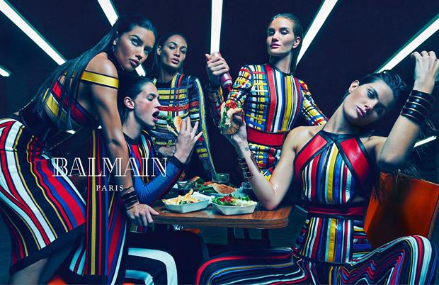Первый взгляд: супермодели в рекламной кампании Balmain. Весна / лето 2015