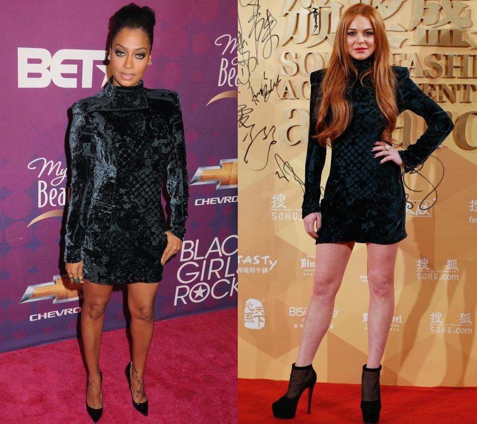 Fashion battle: Лала Энтони и Линдси Лохан