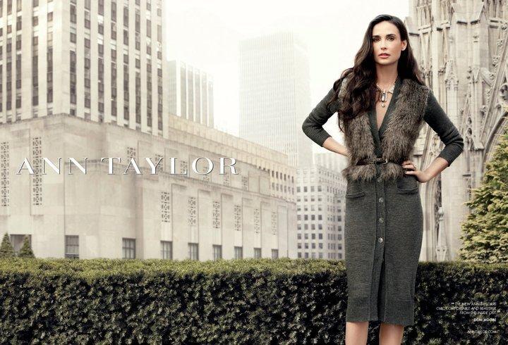 Деми Мур – новое лицо бренда Ann Taylor