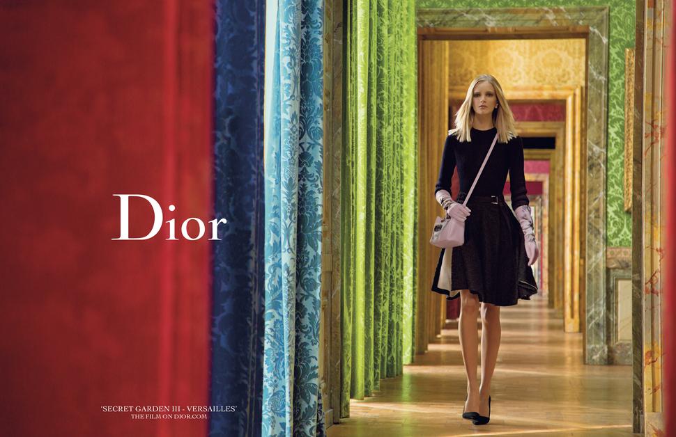 Рекламная кампания Dior Secret Garden III — Versailles
