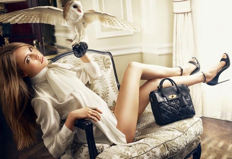 Кара Делевинь в рекламной кампании Mulberry 2014