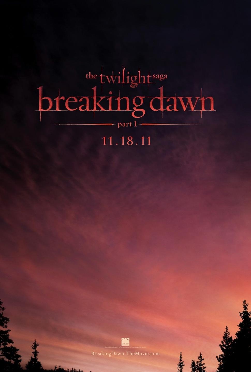 Первый постер фильма «Сумерки. Сага. Рассвет: Часть 1».