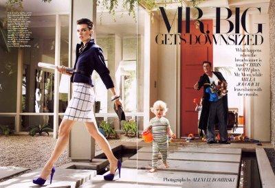 Милла Йовович и Крис Нот в журнале Harper's Bazaar. США. Июль 2009