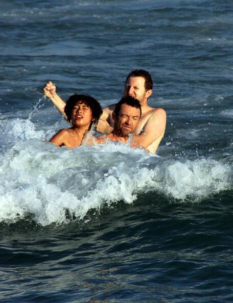 Хью Джекман с семьей отдыхает в Рио