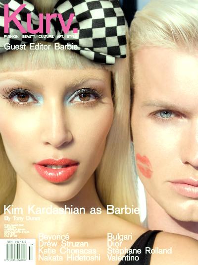 Ким Кардашян в образе Барби для журнала Kurv