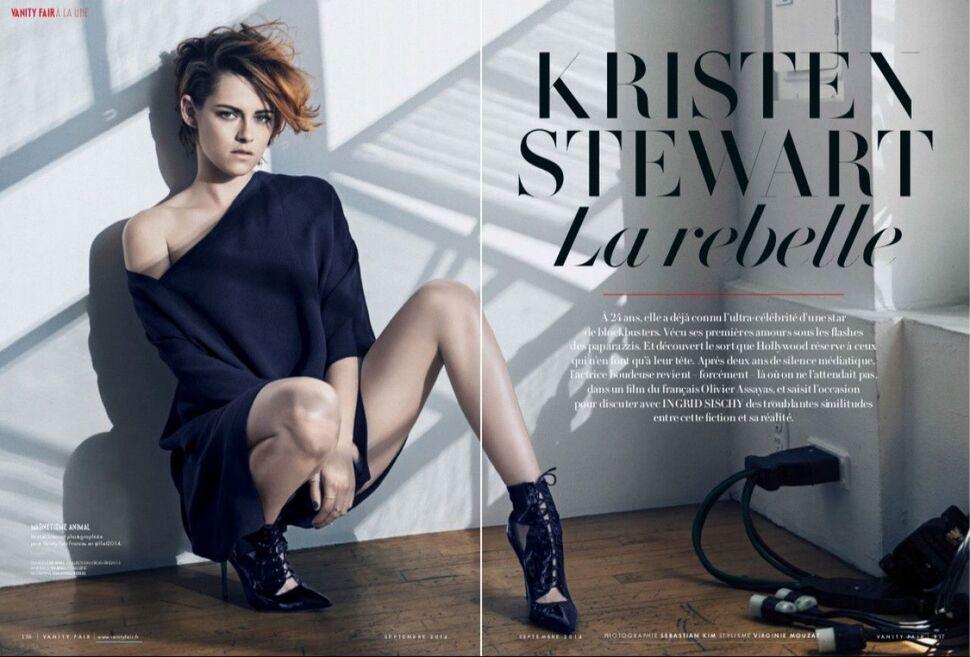 Кристен Стюарт в журнале Vanity Fair Франция. Сентябрь 2014