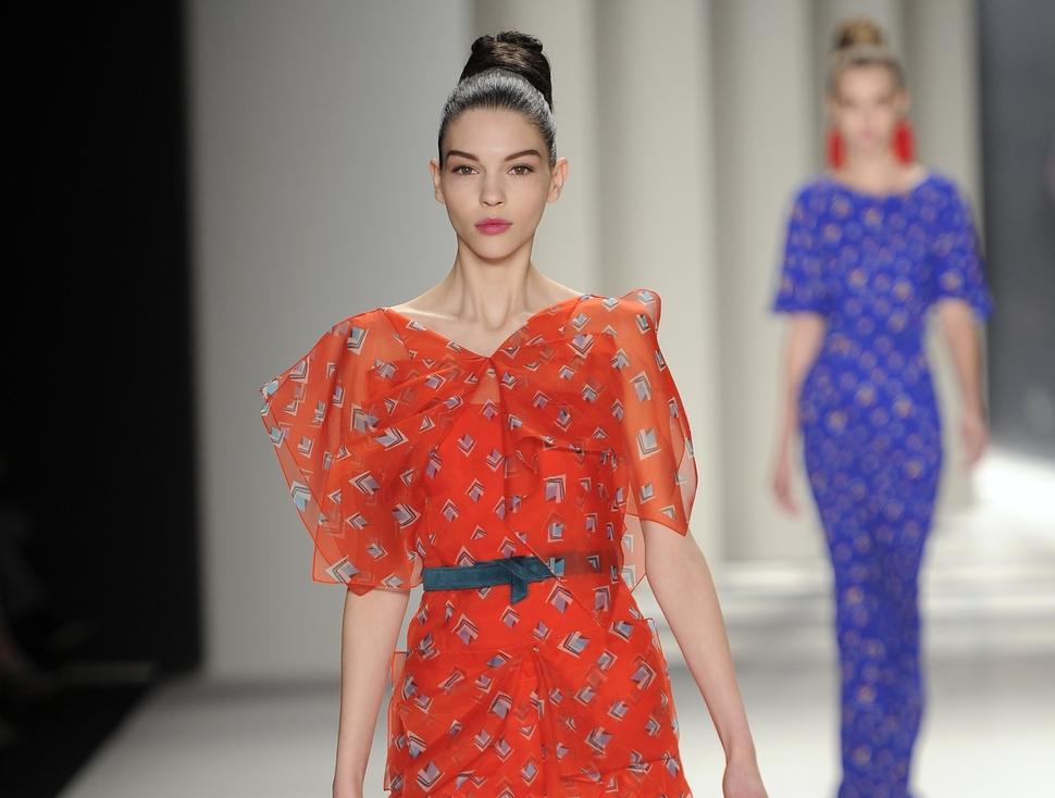 Модный показ новой коллекции Carolina Herrera. Осень / зима 2014