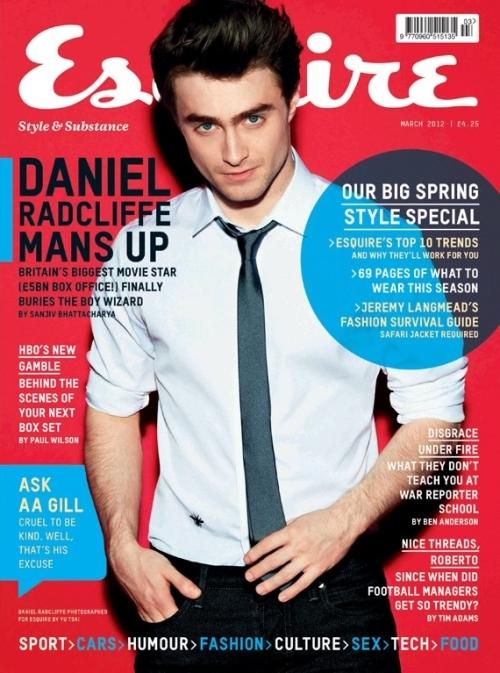 Дэниел Рэдклифф в журнале  Esquire Великобритания. Март 2012