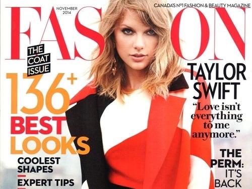 Тейлор Свифт в журнале Fashion. Канада.Ноябрь 2014