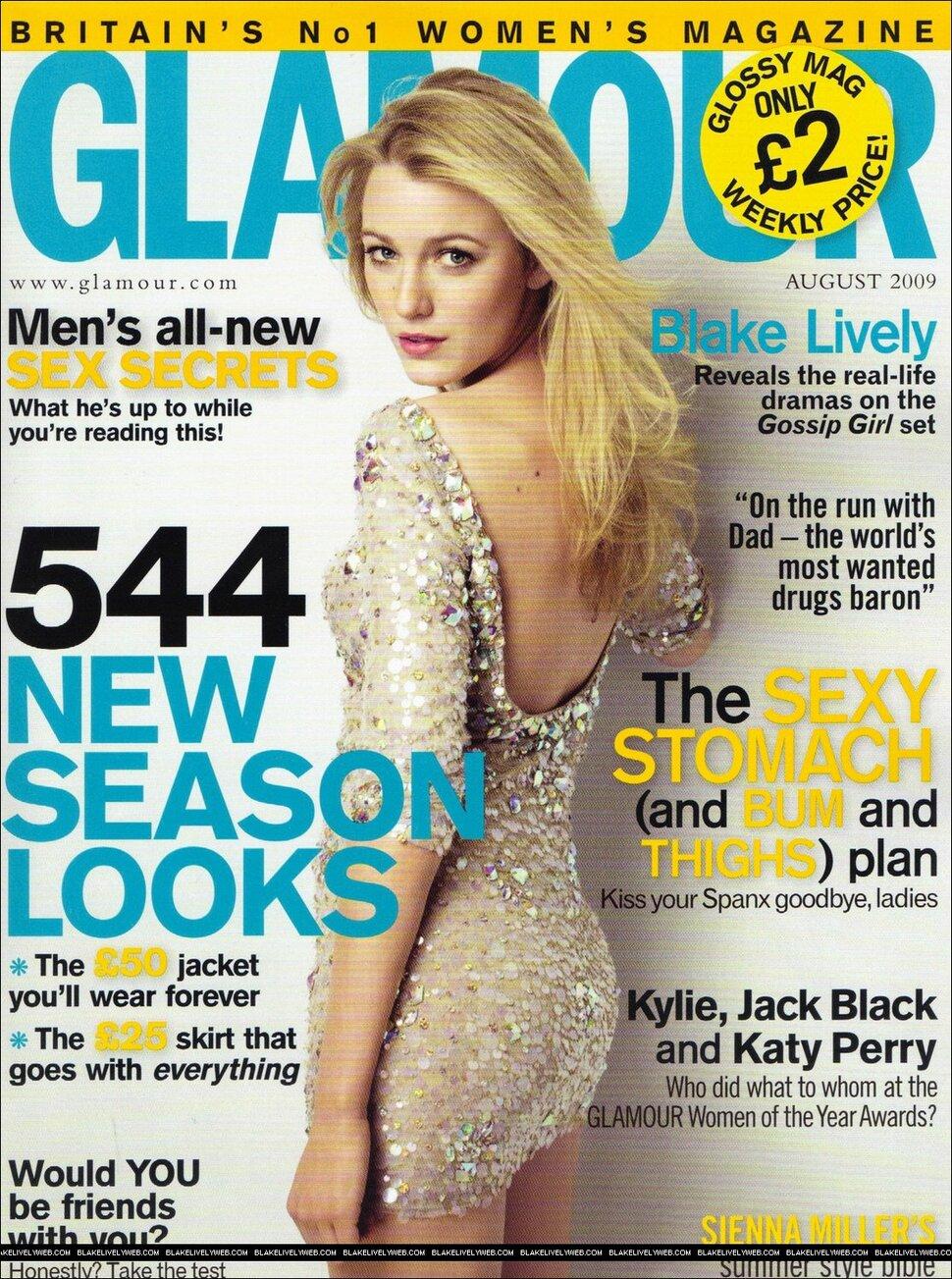 Блэйк Лайвли в журнале Glamour. Великобритания. Август 2009