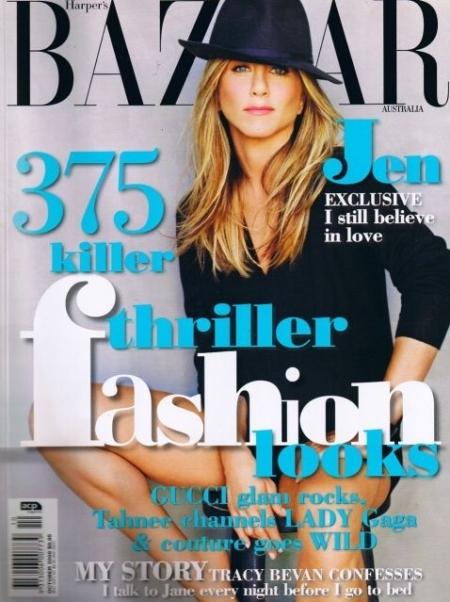 Дженнифер Энистон в журнале Harper's Bazaar Австралия. Октябрь 2009