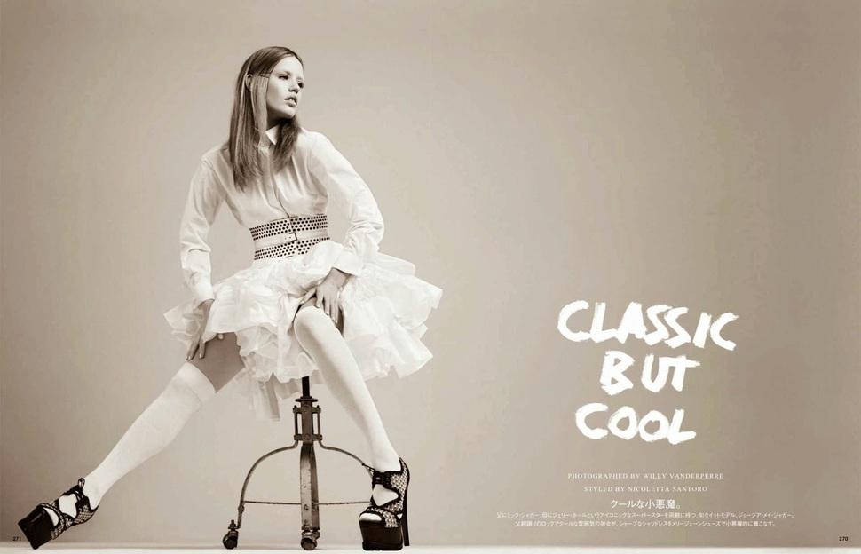 Джорджия Мэй Джаггер в журнале Vogue Япония. Июль 2014