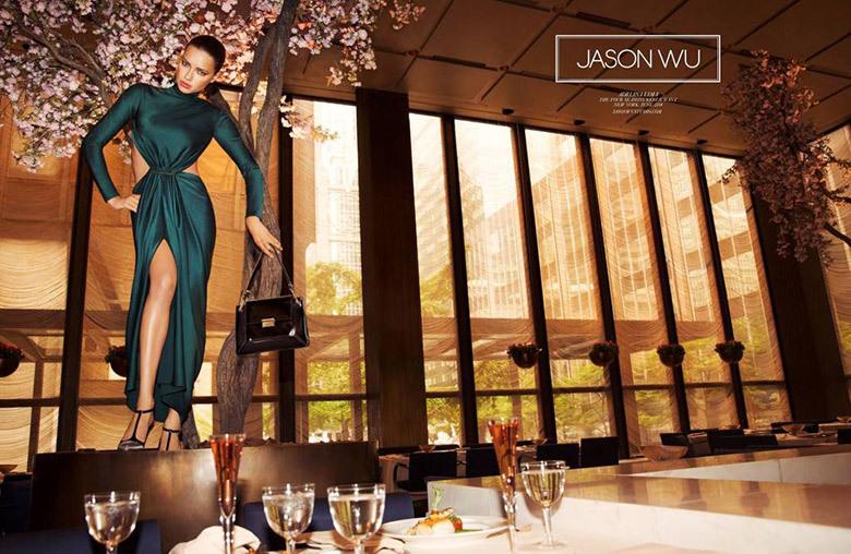 Адриана Лима в рекламной кампании Jason Wu. Осень / зима 2014-2015: первый взгляд