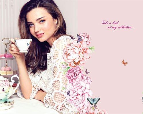 Миранда Керр в рекламной кампании Royal Albert