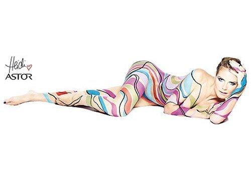 Первый взгляд на Хайди Клум в рекламной кампании Astor Cosmetics