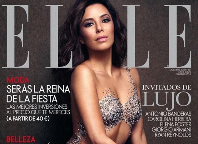 Ева Лонгория в журнале Elle Испания. Декабрь 2013