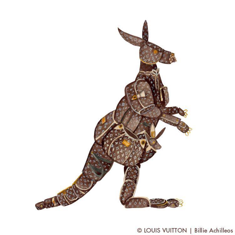 Сумочки Louis Vuitton превращаются в животных