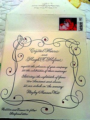 Свадебное приглашение Хью Хефнера