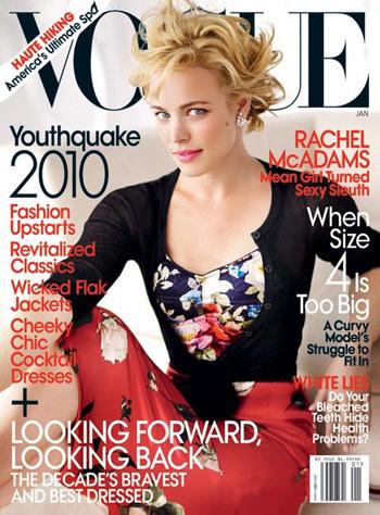 Рэйчел МакАдамс в журнале Vogue. Январь 2010