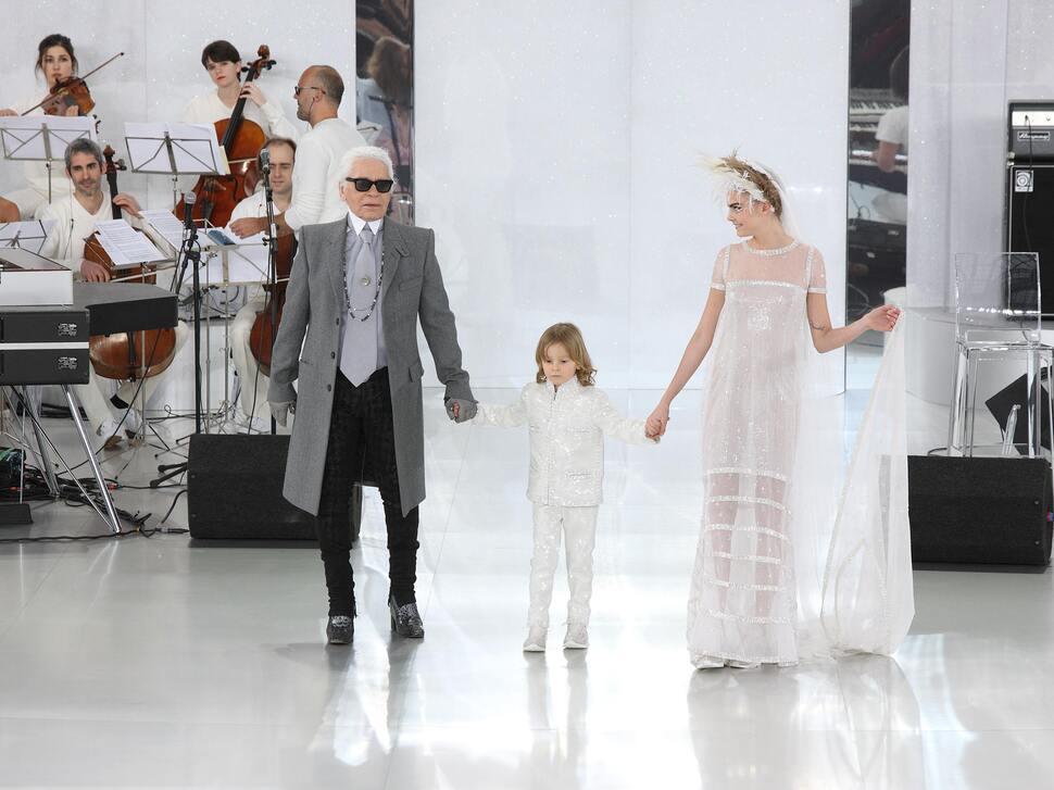Модный показ Chanel Haute Couture. Весна / лето 2014