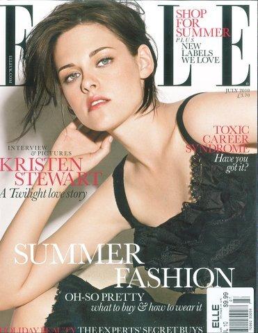 Кристен Стюарт в журнале Elle. UK. Июль 2010